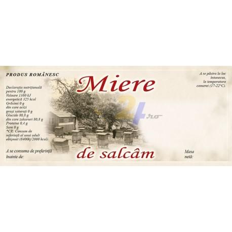 """Eticheta miere RETRO """"Salcam"""""""