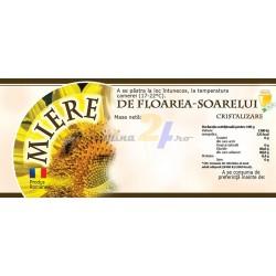 """Eticheta miere """"Floarea soarelui"""""""