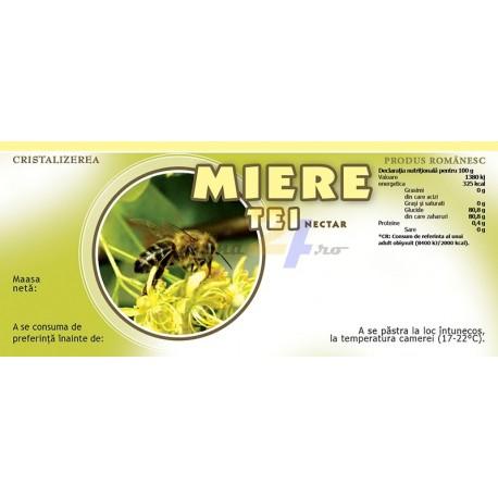 """Eticheta miere """"Tei-nectar"""""""
