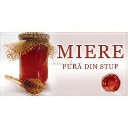 "Banner ""Miere pura din stup"""