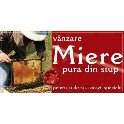 """Banner """"Miere pura din stup - vanzare"""""""