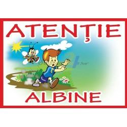 """Placa PVC """"Atentie Albine"""" - XXL"""